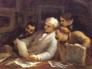 Honoré Daumier The Etching Amateurs